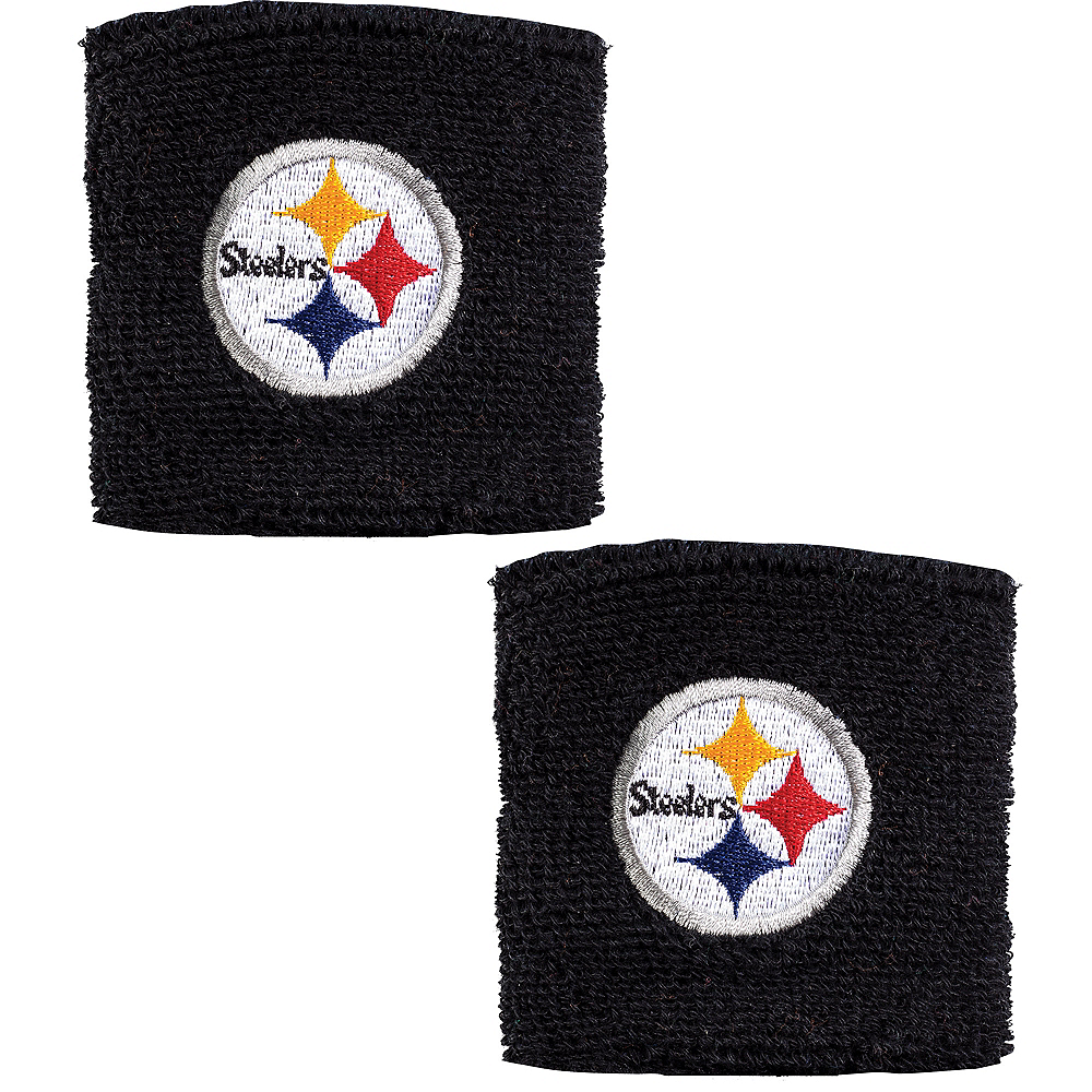 Pittsburgh Steelers Wristbands 2ct Image #1
