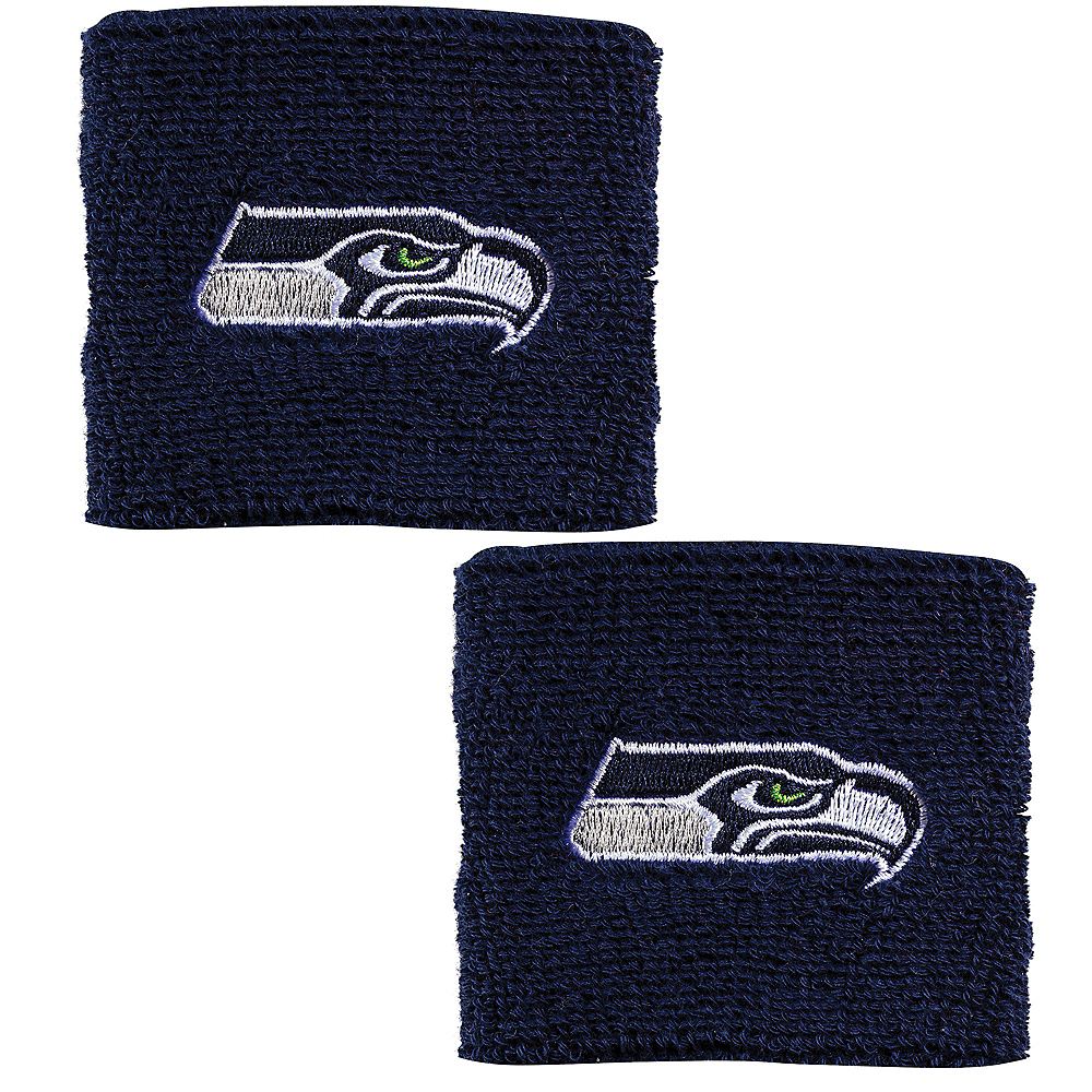 Seattle Seahawks Wristbands 2ct Image #1