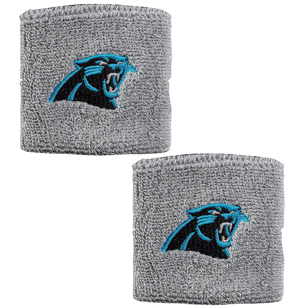 Carolina Panthers Wristbands 2ct Image #1