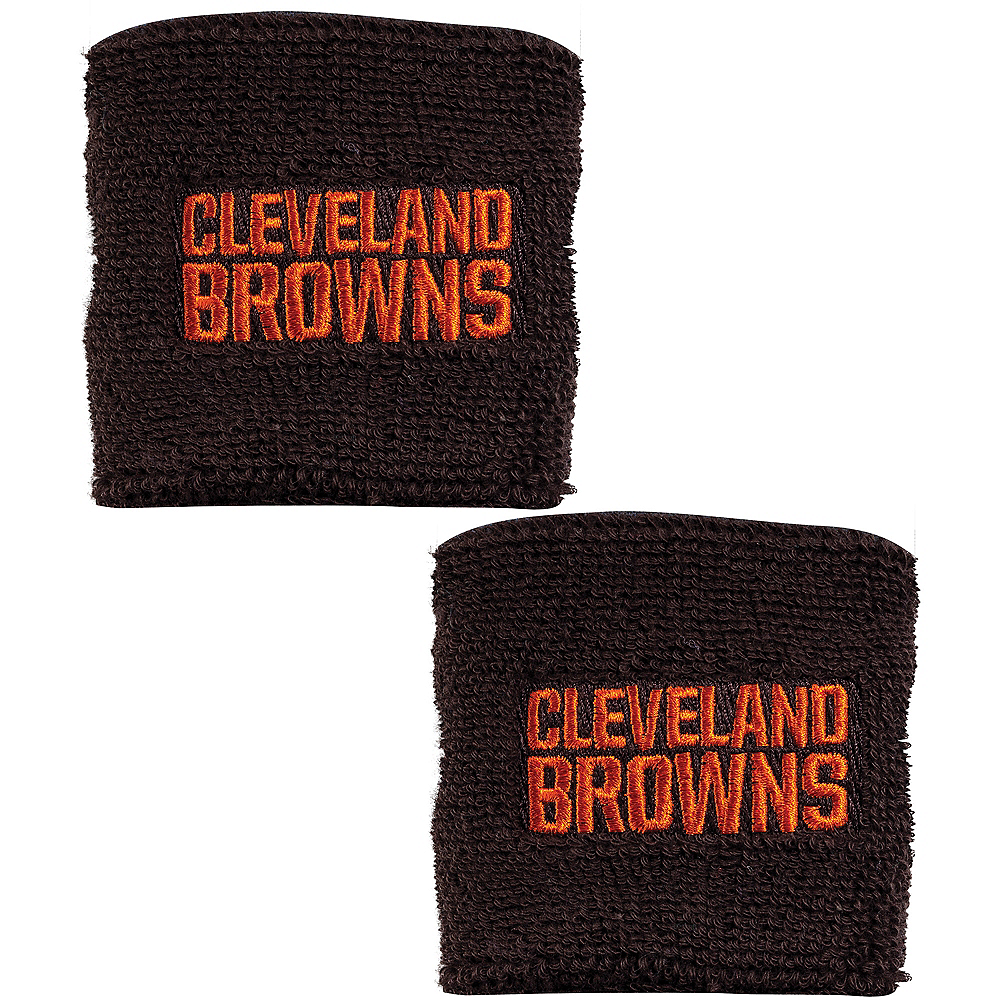 Cleveland Browns Wristbands 2ct Image #1