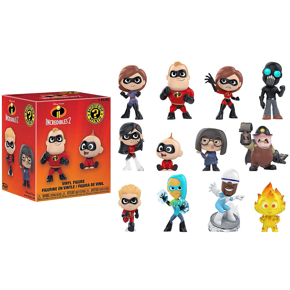 72e7fabb8e1 Funko Mystery Minis Incredibles 2 Characters Mystery Box Image  1 ...