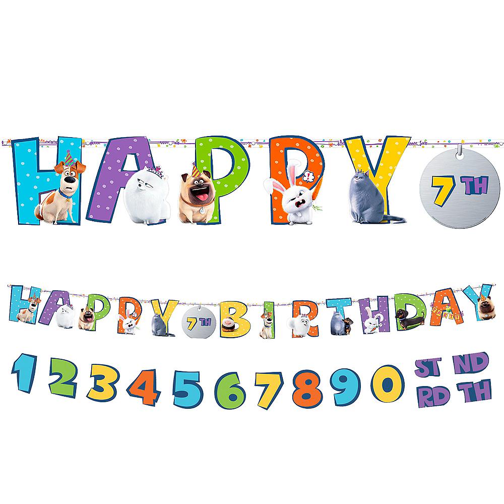 Secret Life of Pets 2 Birthday Banner Kit Image #1