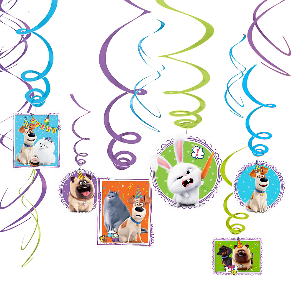 Secret Life of Pets 2 Swirl Decorations 12ct Image #1