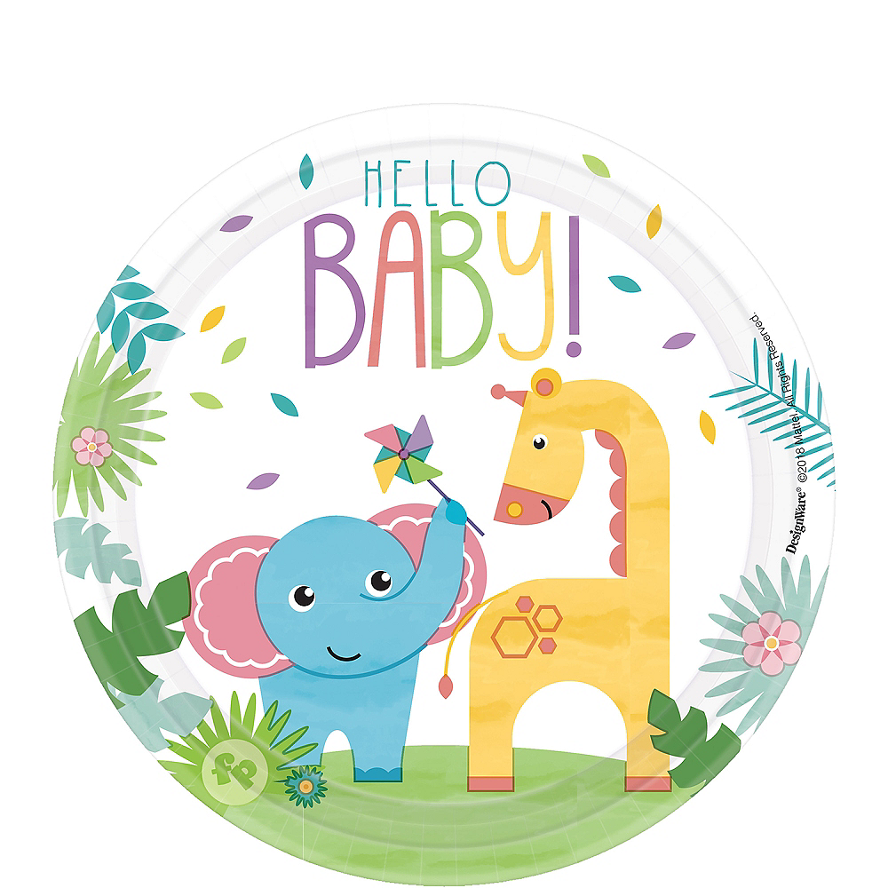 Fisher-Price Hello Baby Dessert Plates 8ct Image #1