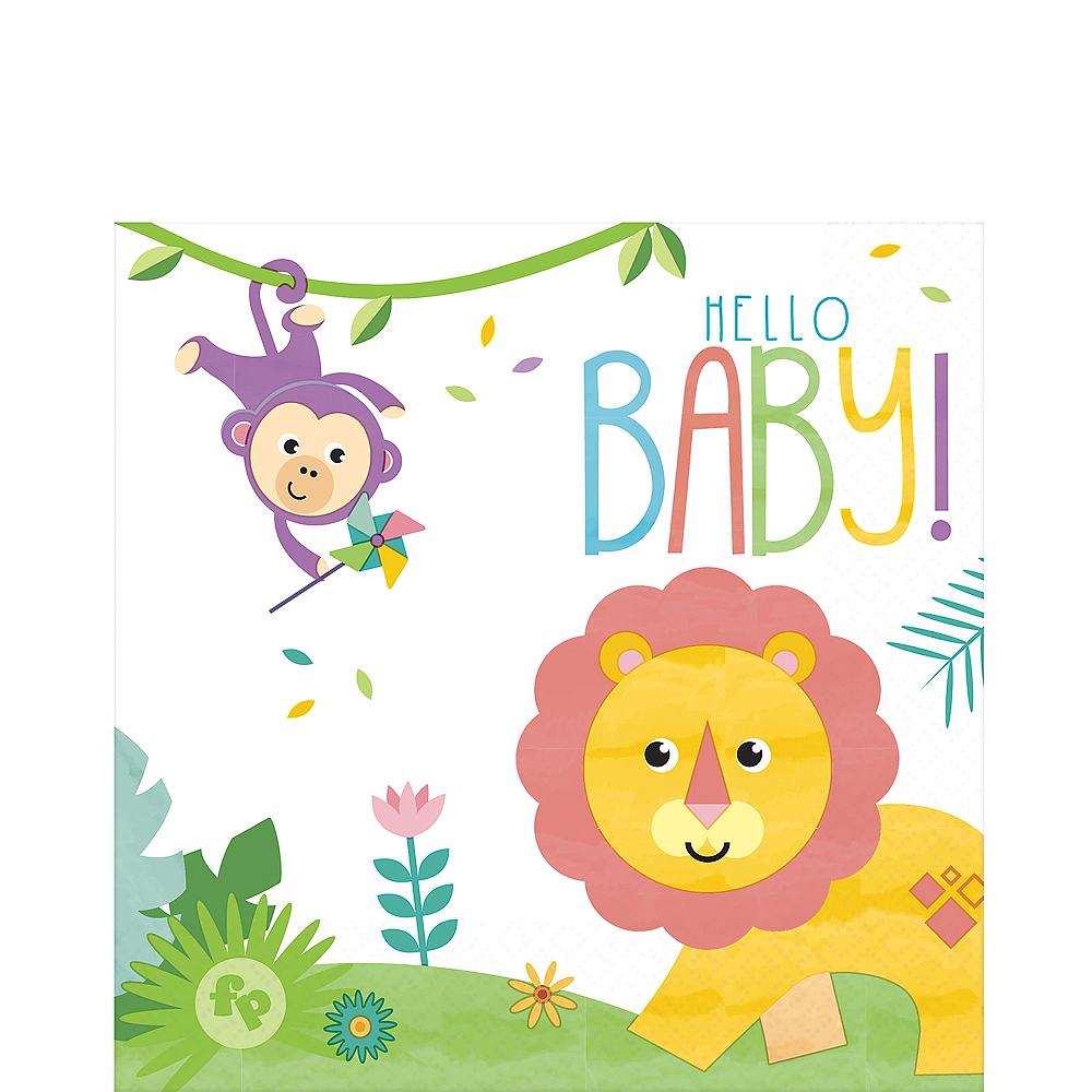 Fisher-Price Hello Baby Lunch Napkins 16ct Image #1