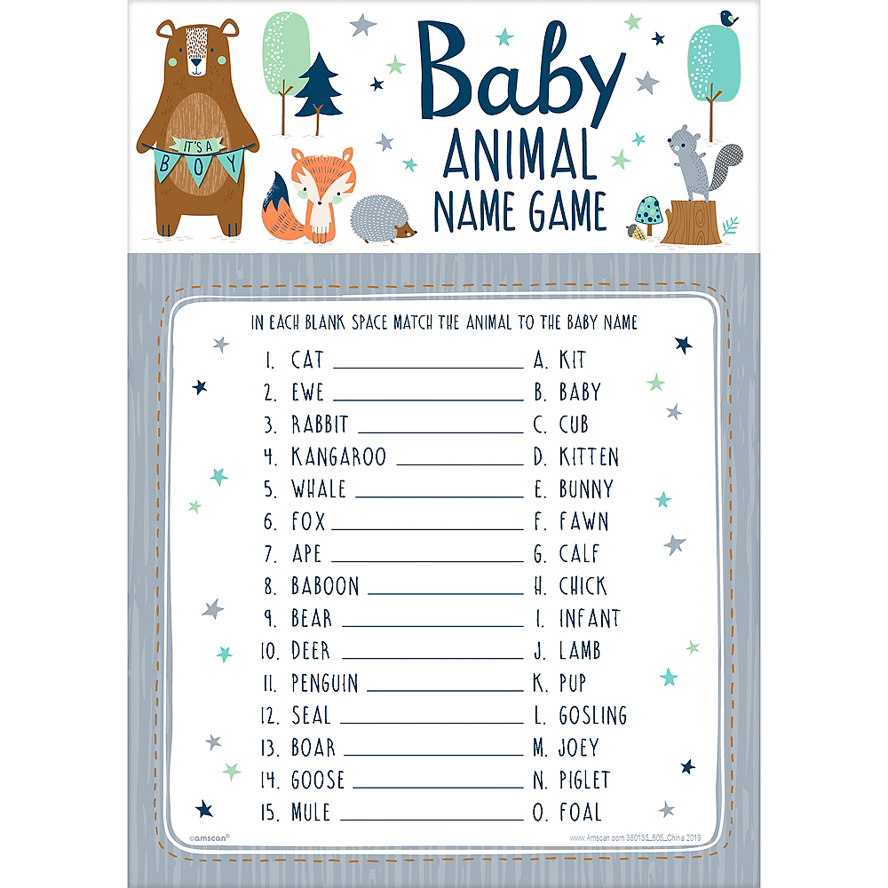 Can Bearly Wait Baby Animal Name Game 24ct Image #1