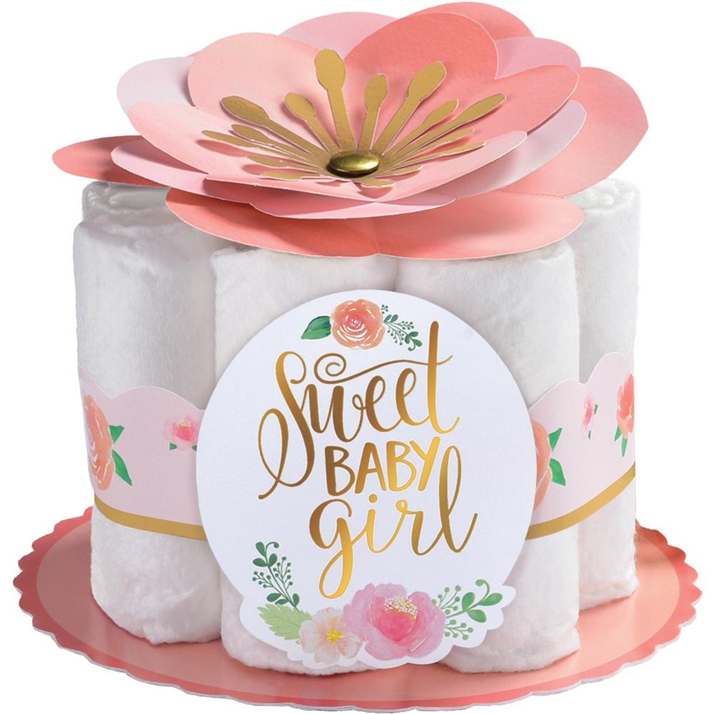 Floral Baby Diaper Centerpiece Kit Image #1