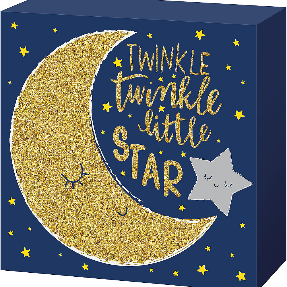 Nav Item for Twinkle Twinkle Little Star Block Sign Image #1