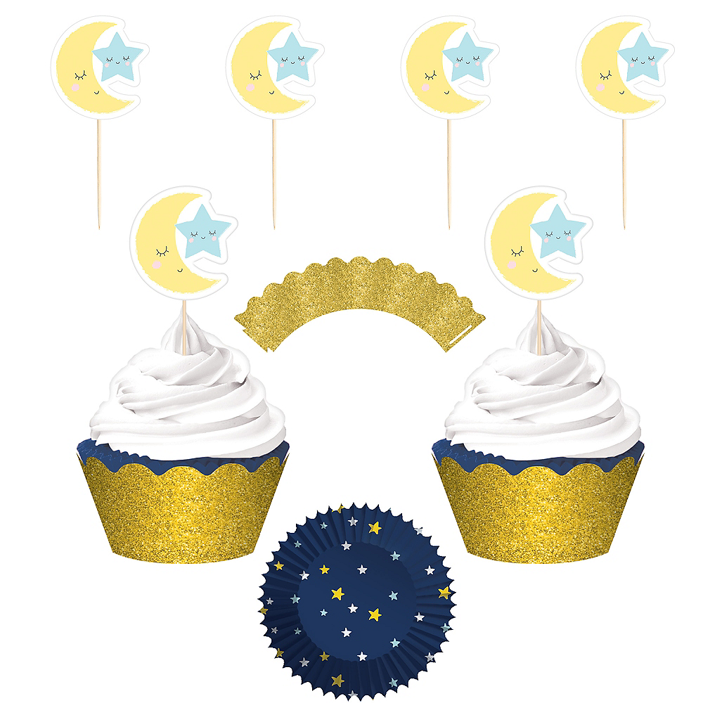 Twinkle Twinkle Little Star Cupcake Decorating Kit for 24 Image #1