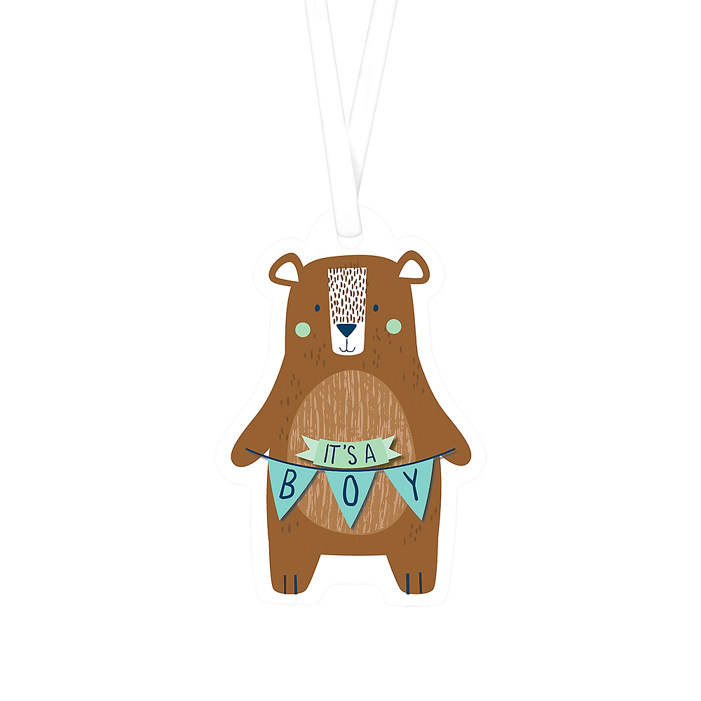 Can Bearly Wait Baby Shower Favor Tags 25ct Image #1