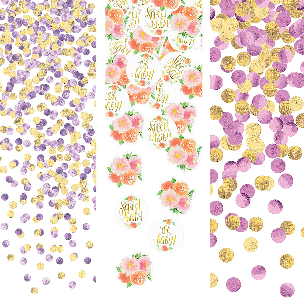 Floral Baby Confetti Image #1