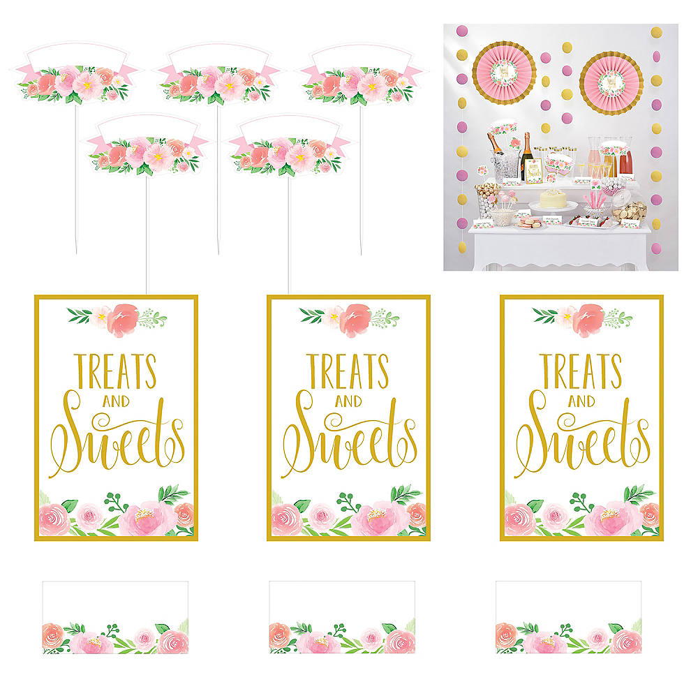 Floral Baby Shower Treat Table Decorating Kit 23pc Image #1