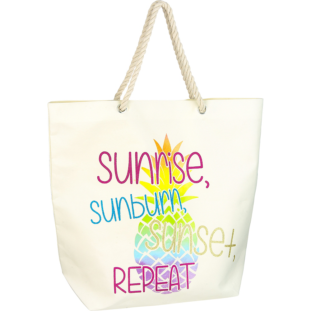 Sunrise, Sunburn & Sunset Tote Bag Image #1