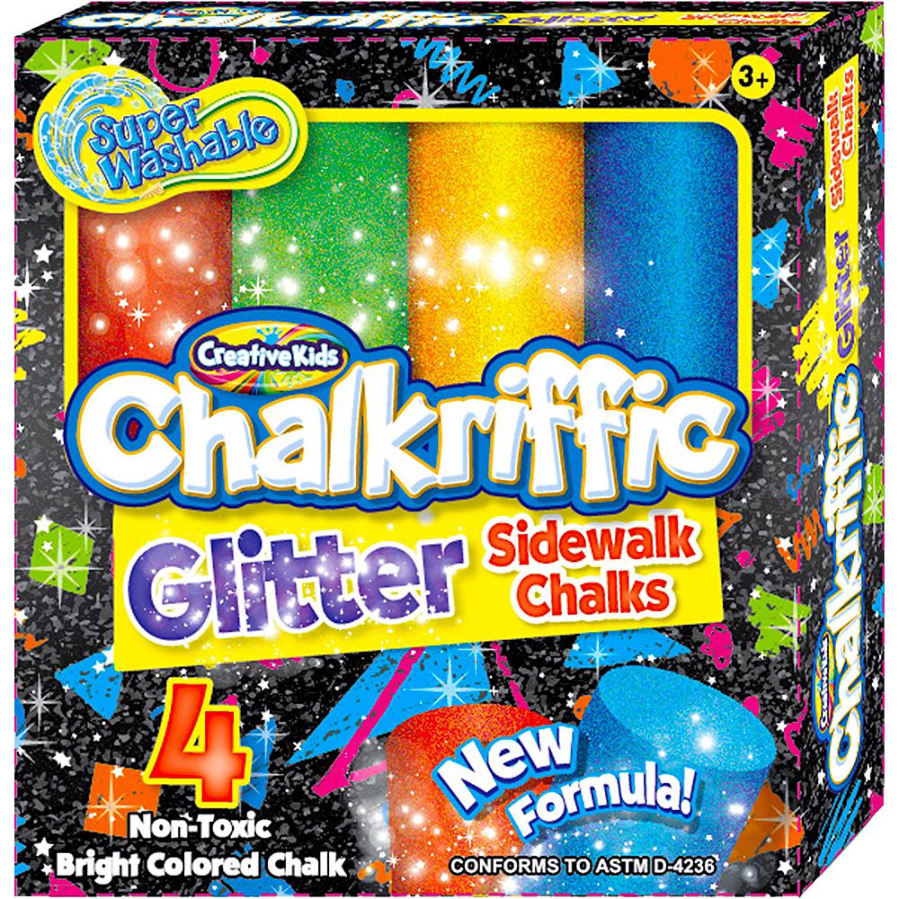 Glitter Sidewalk Chalk 4ct Image #1