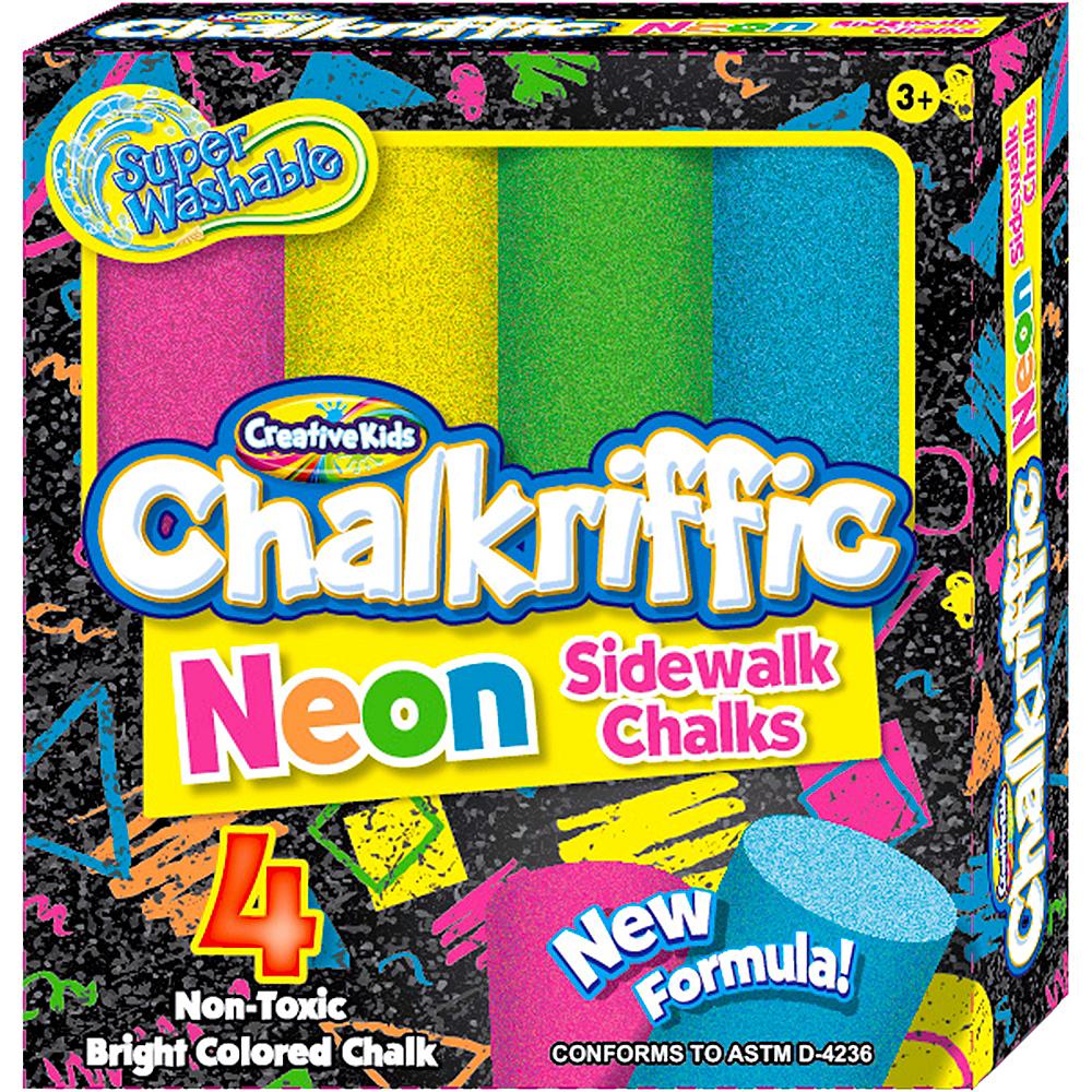 Neon Sidewalk Chalk 4ct Image #1