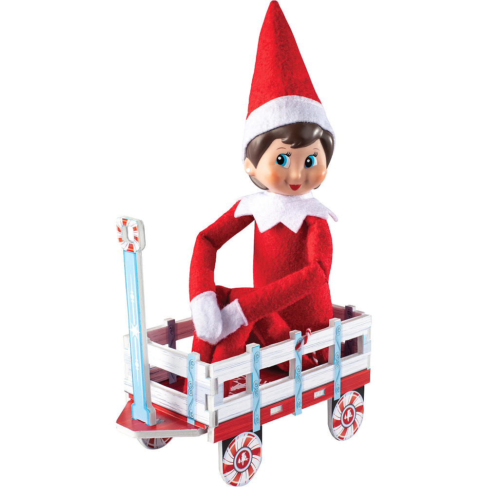 Scout Elves at Play® Orna-Moments Wintry Wagon Image #1