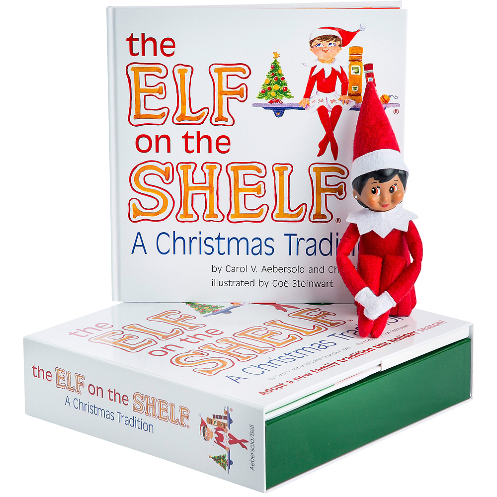 Nav Item for The Elf on the Shelf: A Christmas Tradition with Brown-Eyed Girl Scout Elf Image #1