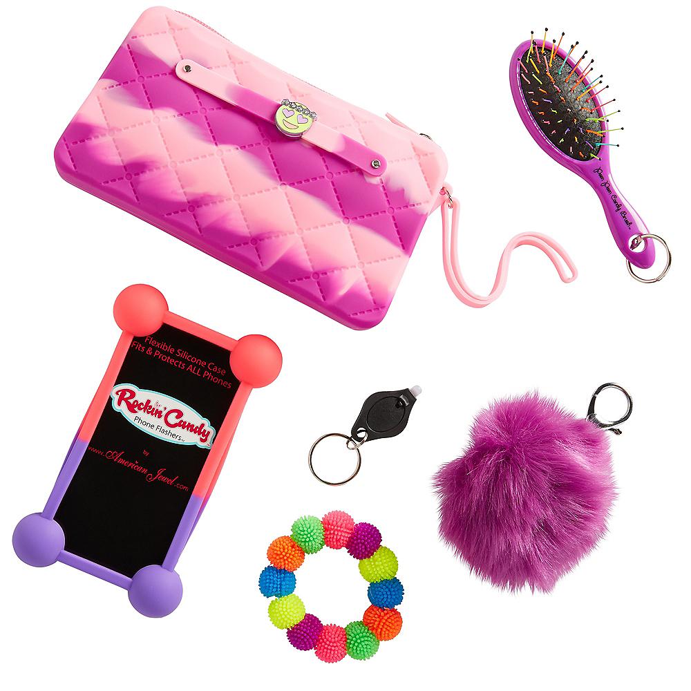 Pink & Purple Purse Favor Set 6pc Image #1