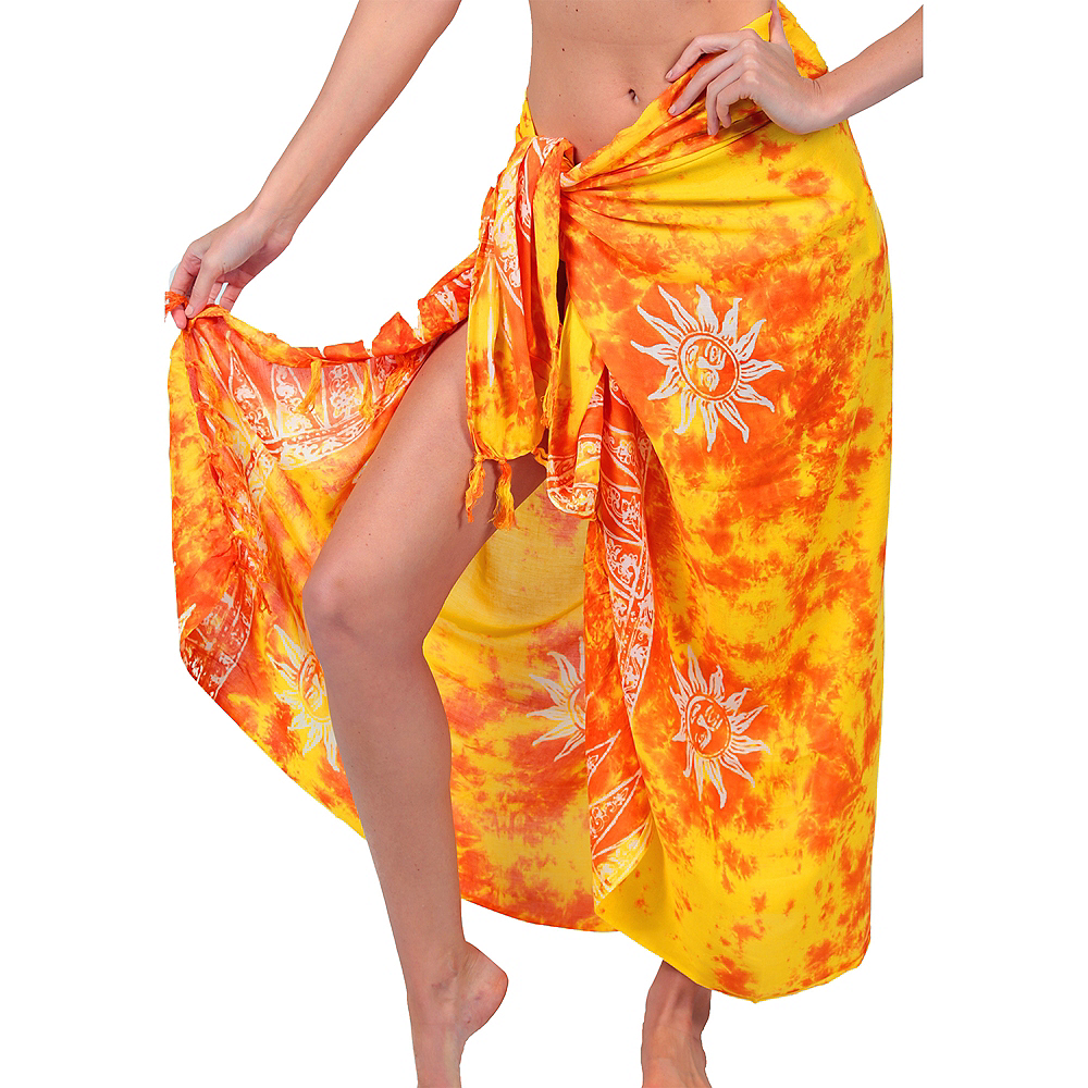Nav Item for Adult Yellow Sarong Image #1