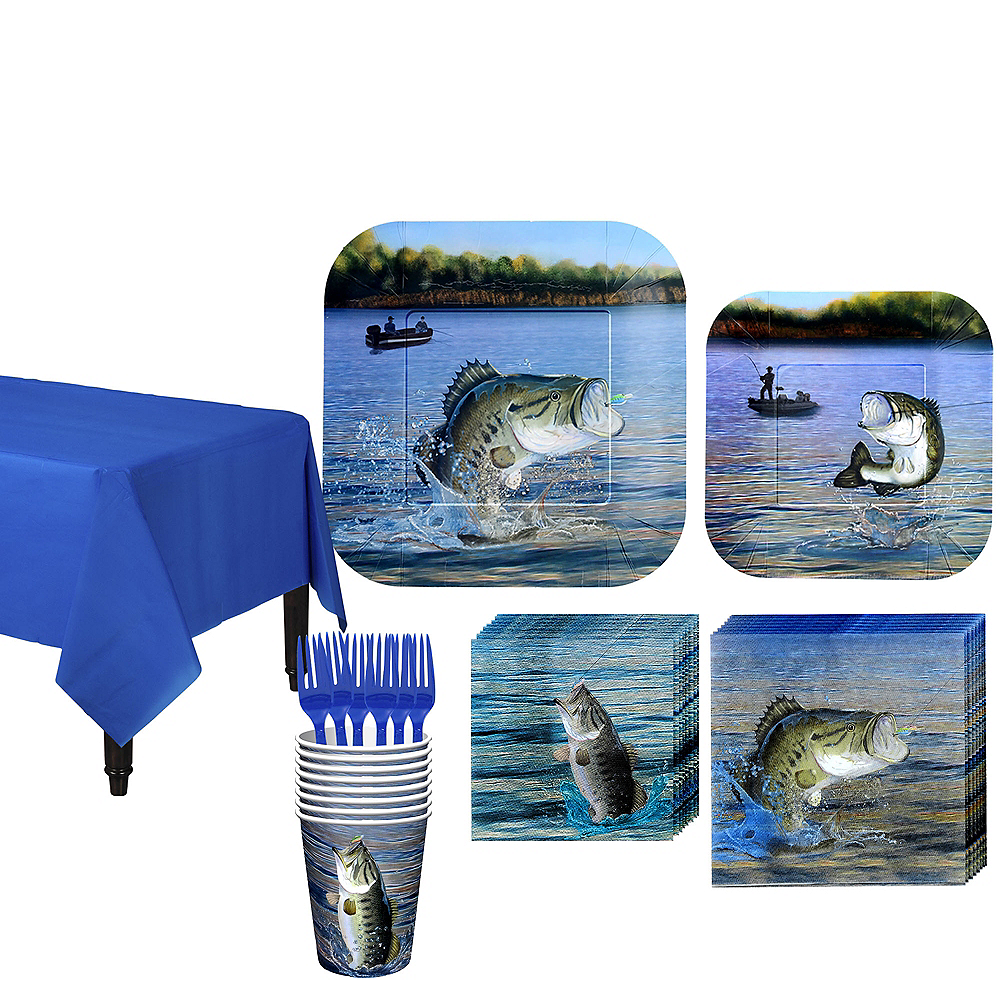 Fishing Tableware Kit for 8 Guests Image #1