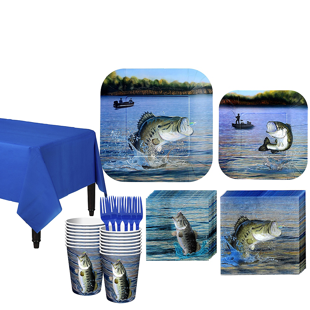 Fishing Tableware Kit for 16 Guests Image #1