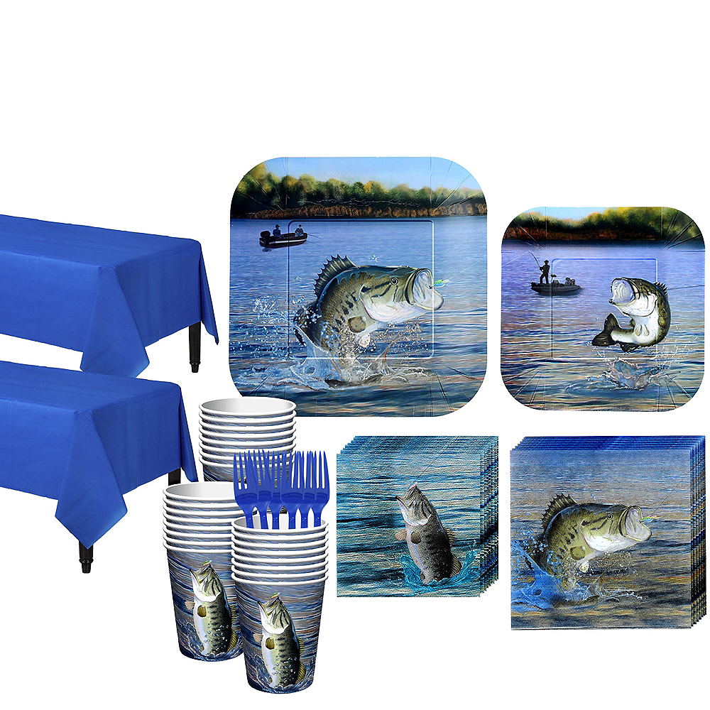 Fishing Tableware Kit for 32 Guests Image #1