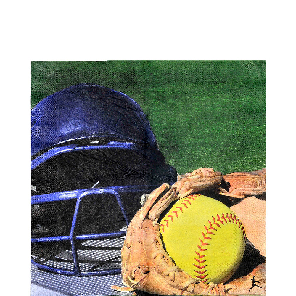Softball Tableware Kit for 8 Guests Image #5