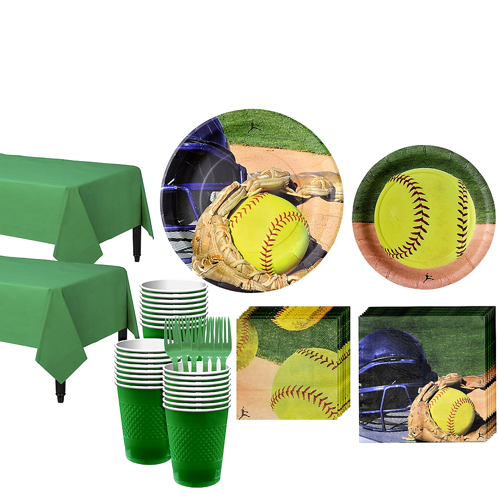 Softball Tableware Kit for 32 Guests Image #1