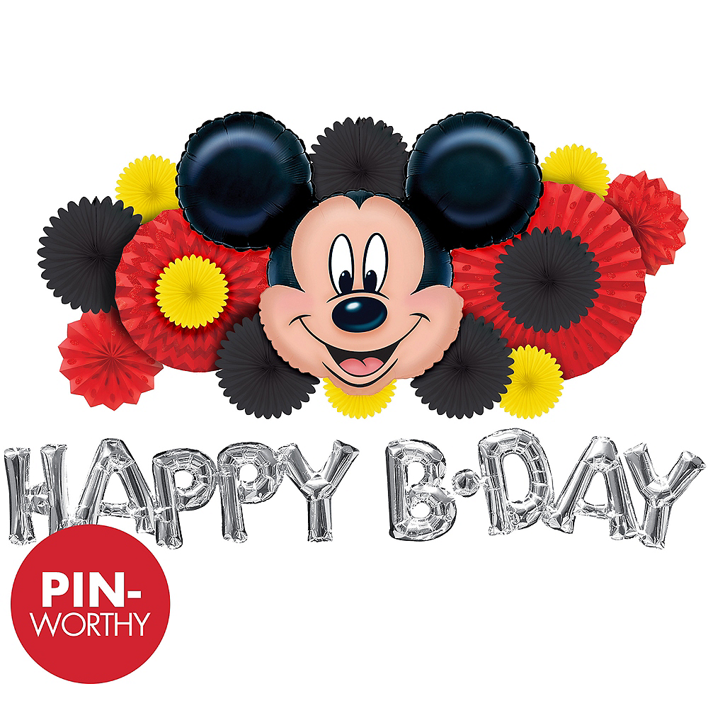 Mickey Mouse Wall Decorating Kit Party City