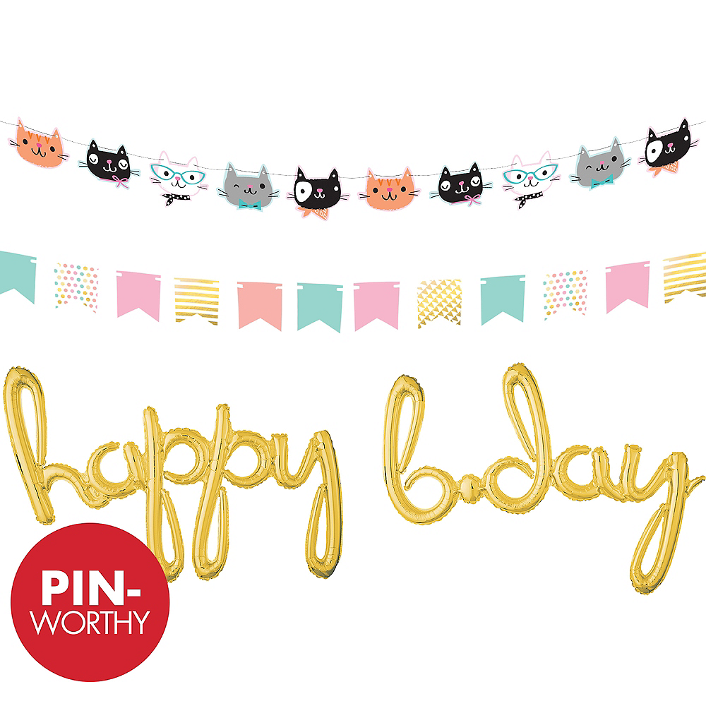 Purrfect Kitty Balloon Banner Kit Image #1