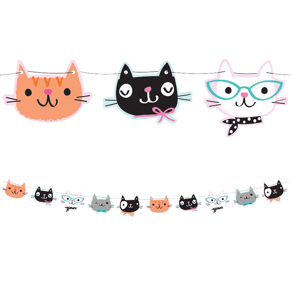 Purrfect Kitty Balloon Banner Kit Image #3