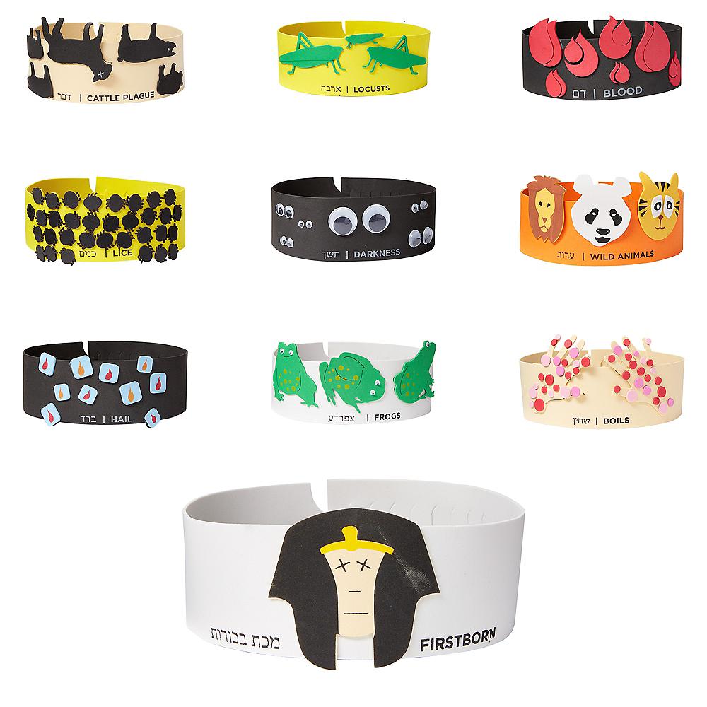 Passover Plague Headbands 10ct Image #1