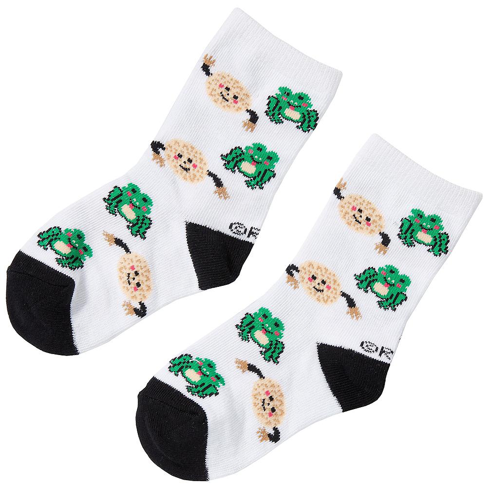 Child Frog & Matzo Ball Passover Crew Socks Image #1