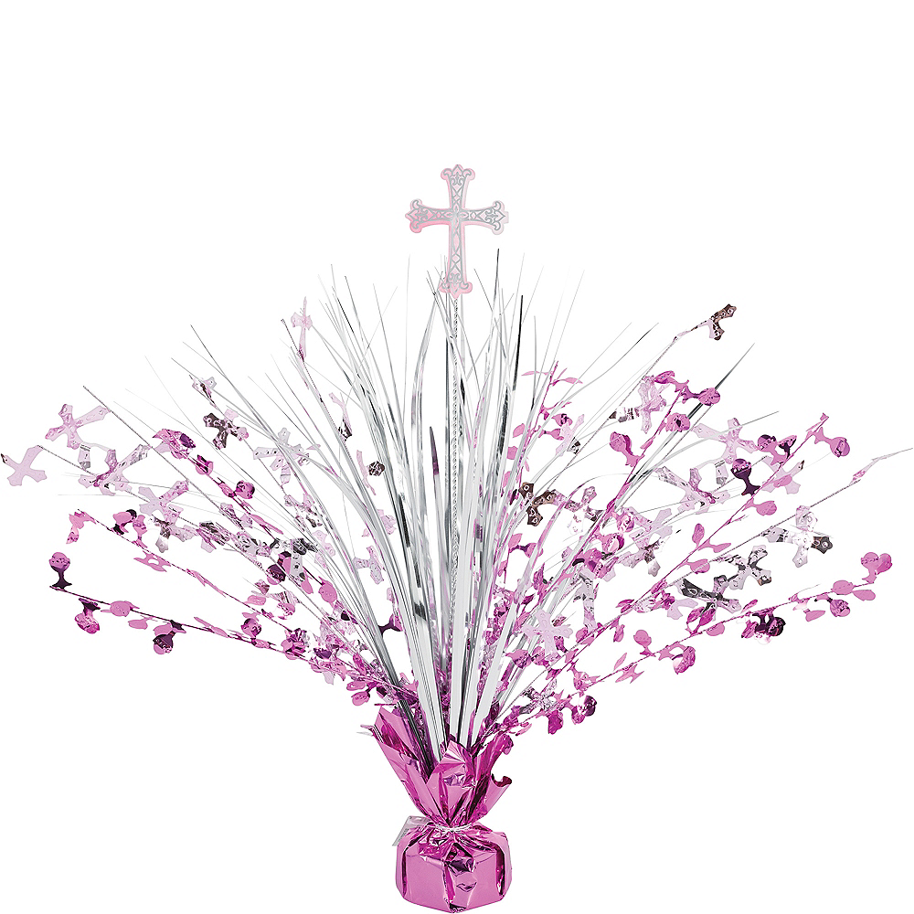 Pink First Communion Spray Centerpiece Image #1