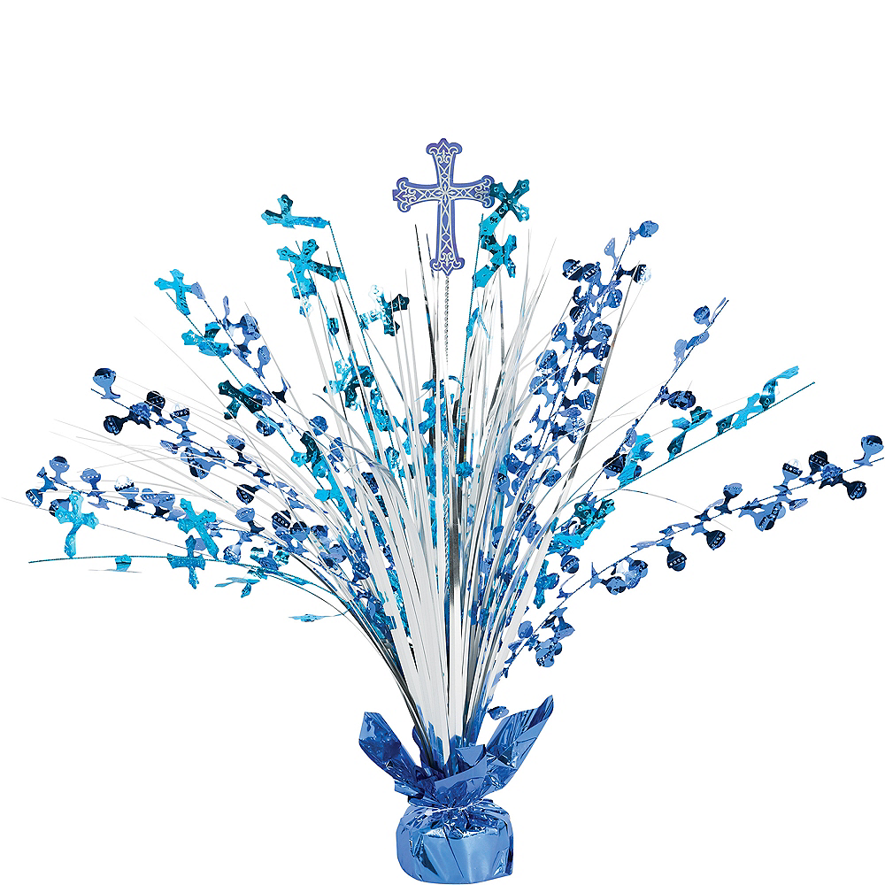 Blue First Communion Spray Centerpiece Image #1