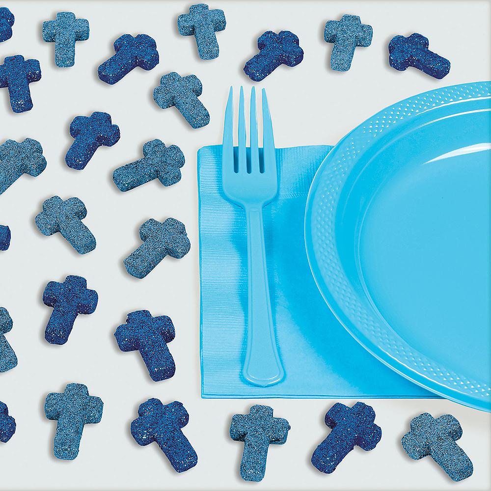 Glitter Blue Cross Table Scatter 24ct Image #1