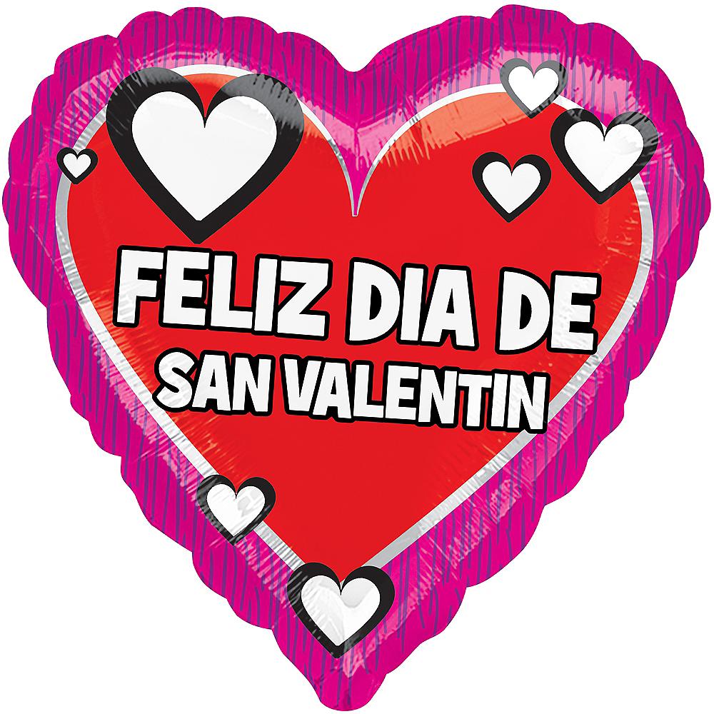 Dia de San Valentin Heart Balloon, 17in Image #1