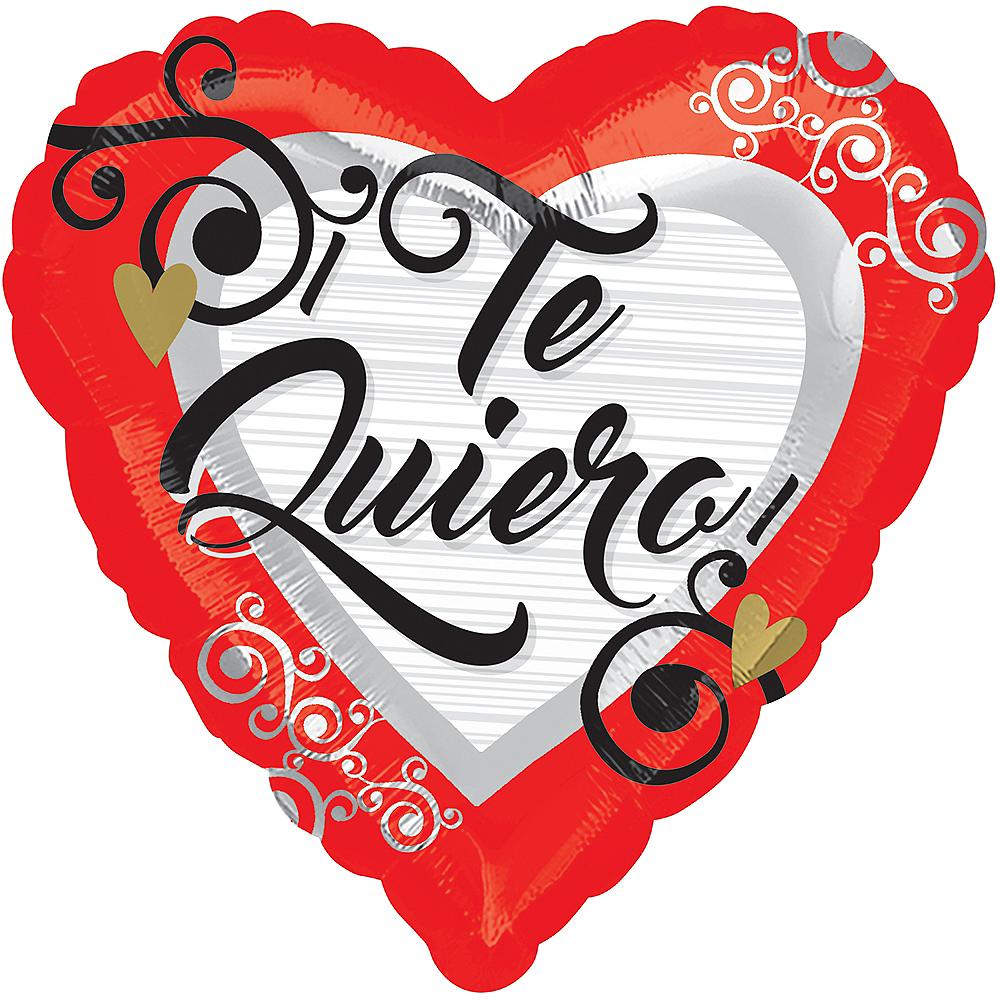 Red Te Quiero Heart Balloon, 17in Image #1
