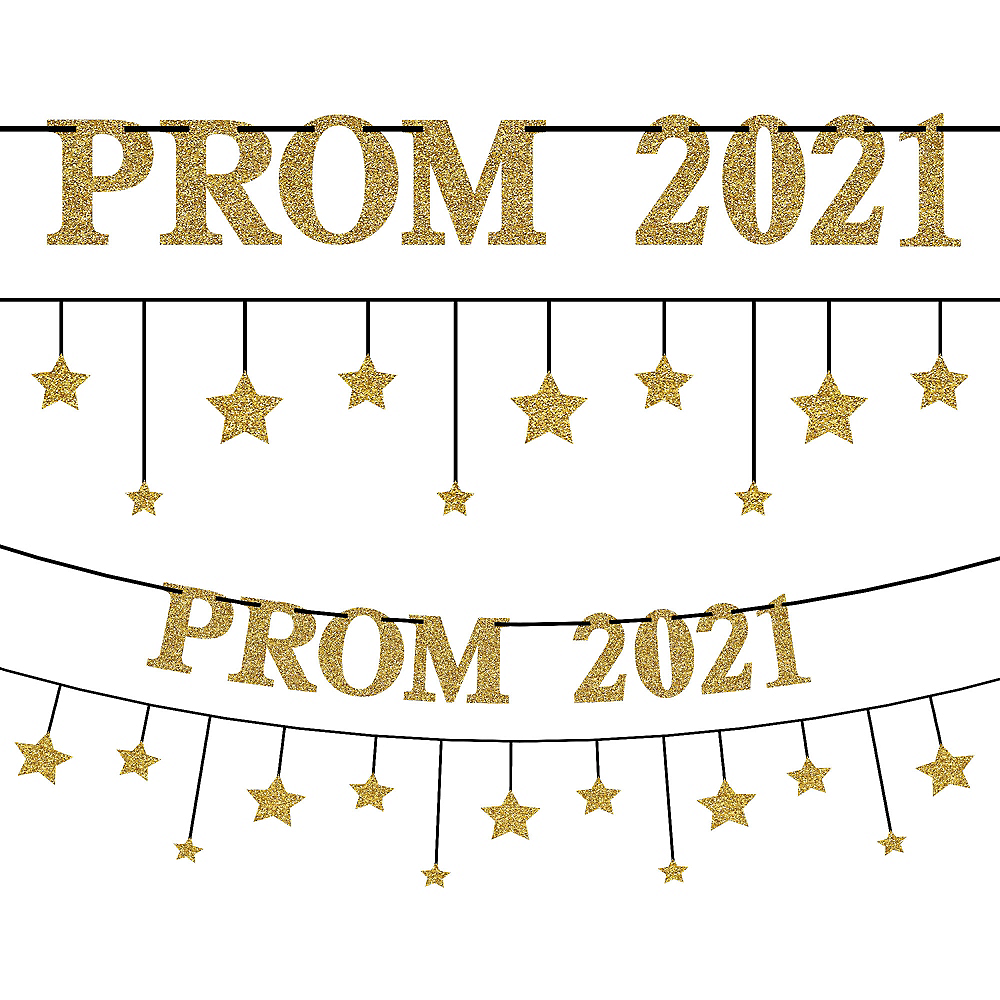 Gold & Silver Prom 2020 Banner Kit 2pc Image #1
