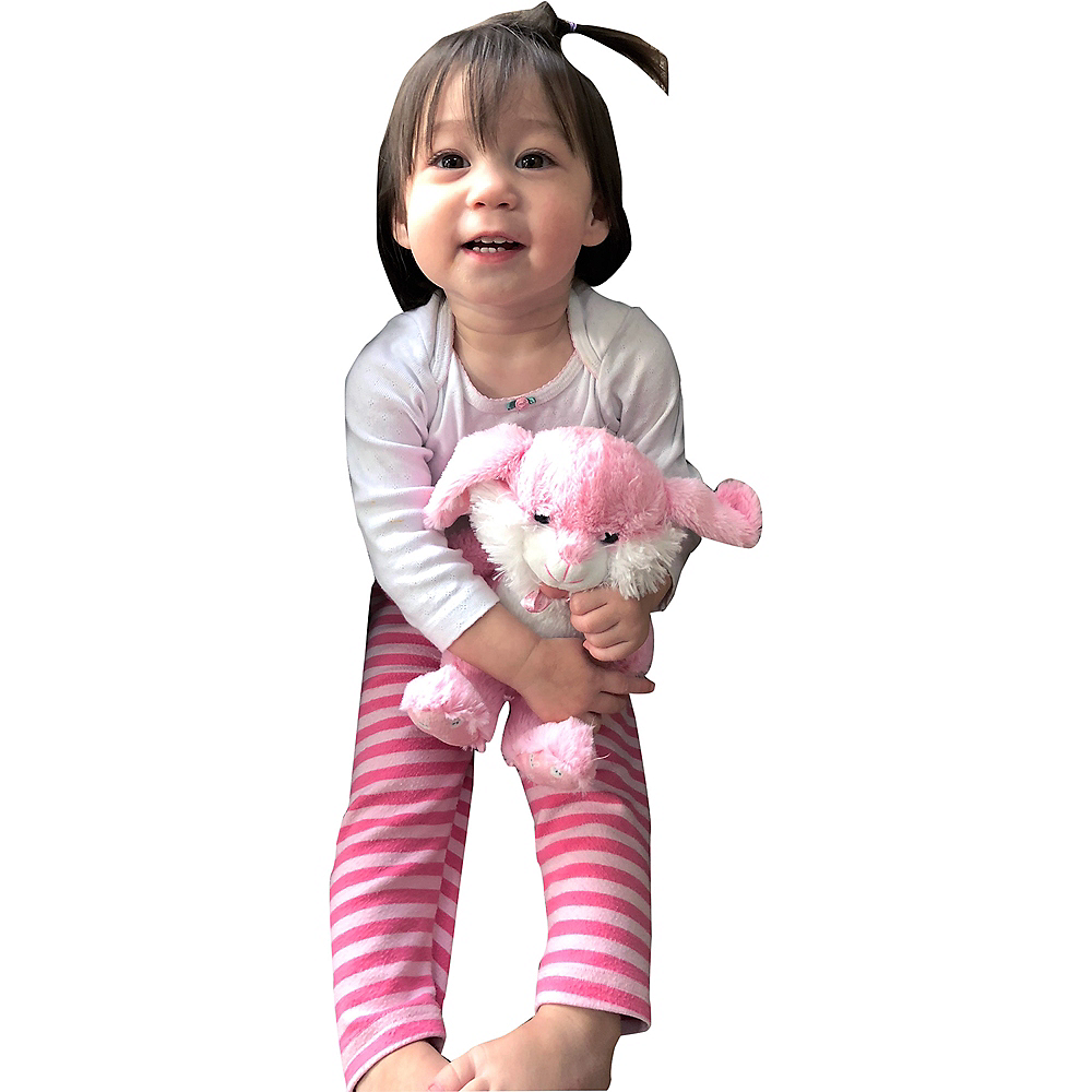 Pink & White Bow Easter Bunny Plush Image #2