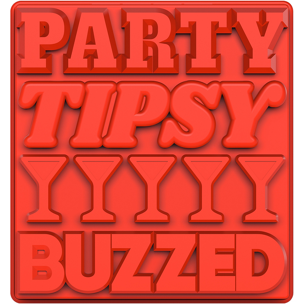 Party Tipsy Buzzed Ice Tray Image #2