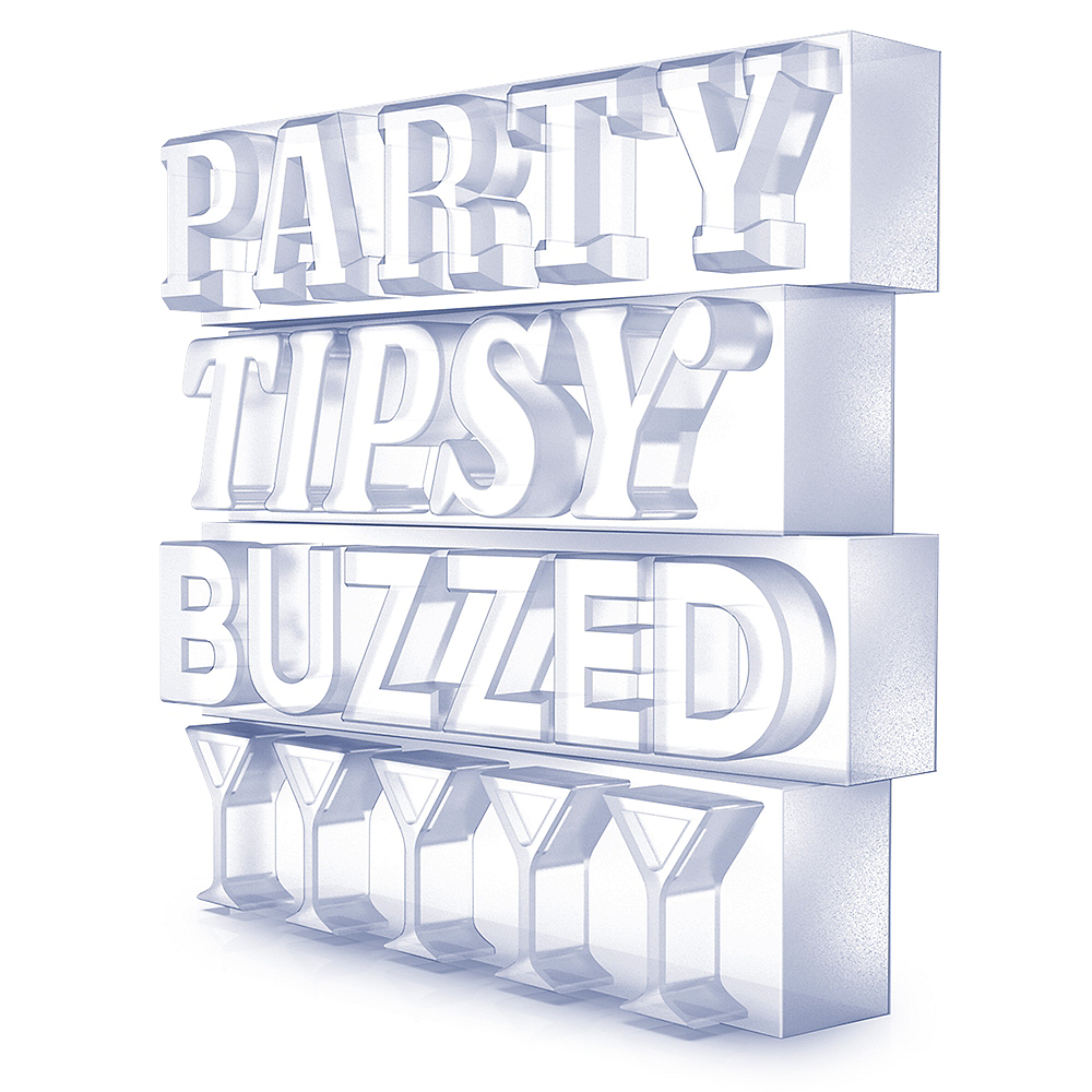 Party Tipsy Buzzed Ice Tray Image #3