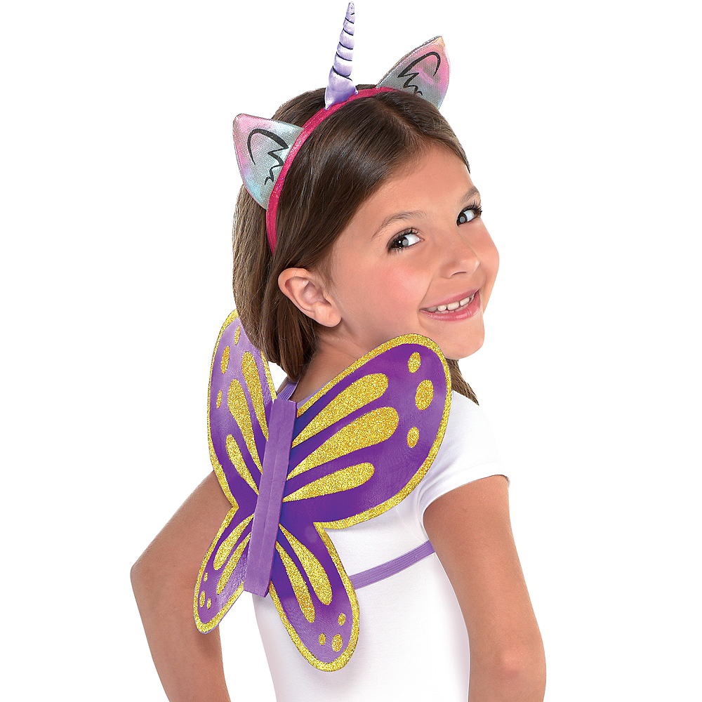 Nav Item for Rainbow Butterfly Unicorn Kitty Costume Accessory Kit Image #1