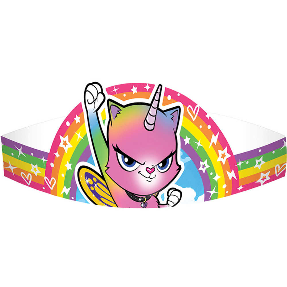 Rainbow Butterfly Unicorn Kitty Crown 8ct Image #1