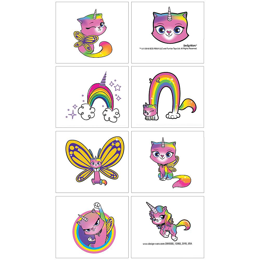 Rainbow Butterfly Unicorn Kitty Tattoos 1 Sheet Image #1
