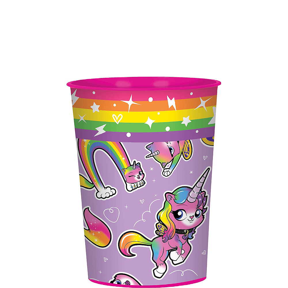 Rainbow Butterfly Unicorn Kitty Favor Cup Image #1