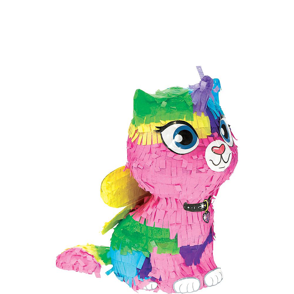 Rainbow Butterfly Unicorn Kitty Pinata Decoration Image #1