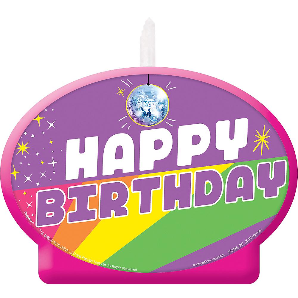 Rainbow Butterfly Unicorn Kitty Birthday Candle Image #1