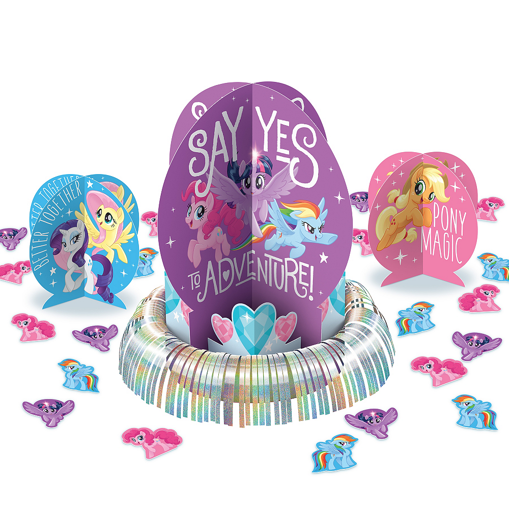 Blue Pink Purple My Little Pony Table Decorating Kit 23pc Party