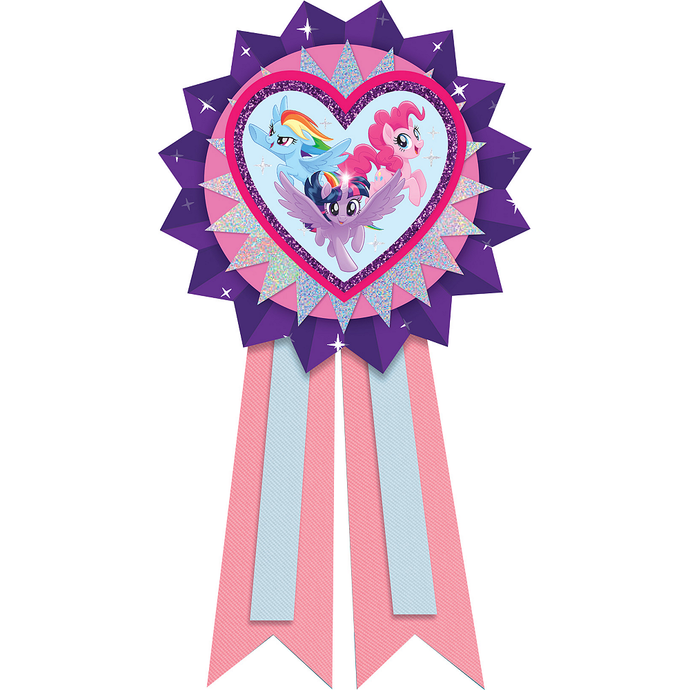 Nav Item for Pink & Purple My Little Pony Award Ribbon Image #1